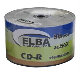 Elba CD-R 700MB-80MIN 56x 50li Shrink