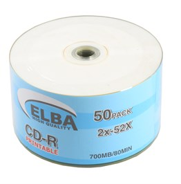 Elba CD-R 700MB-80MIN Piıntable 50li Shrink