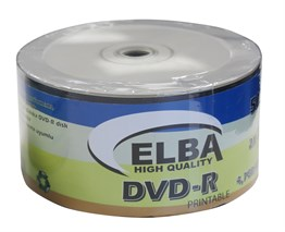 Elba Dvd-R 4,7GB-120MIN 50li 16X Prıntable Dvd-R Shrink
