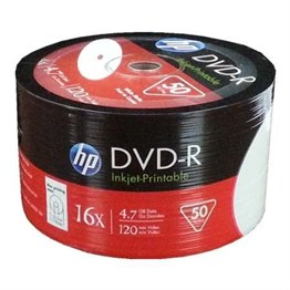 Hp DVD-R 4,7gb-120min 16x 50 li Shrink